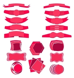 Set of Flat Ribbons and Banners vector