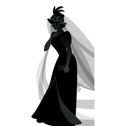 silhouette woman dressed in veils and ancient vector image