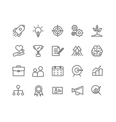 simple set start up thin line icons editable vector image