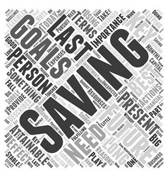 SM importance of saving money Word Cloud Concept vector