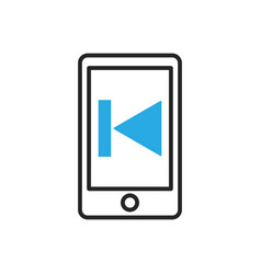 Smartphone icon mobile media vector