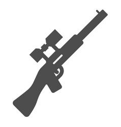 Sniper rifle solid icon gun vector