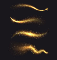 sparkle stardust golden glittering magic vector image