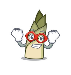 Super hero bamboo shoot character cartoon vector