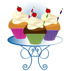 Three cupcakes vector