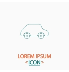 Toy Car computer symbol vector