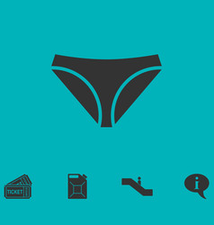 Underwear icon flat vector