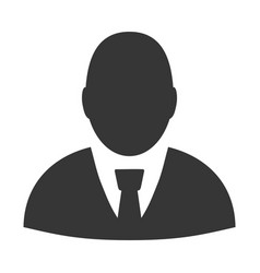 user profile flat icon vector image