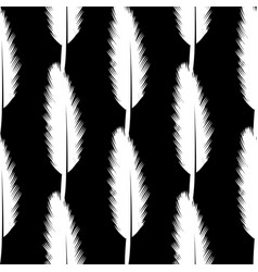 white feather pen seamless pattern vector image