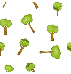 Woody plants pattern cartoon style vector