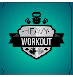 Workout background vector image