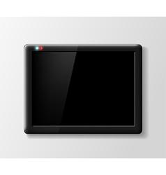 black digital tablet on a gray background vector image vector image