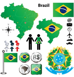 Brazil map vector image vector image