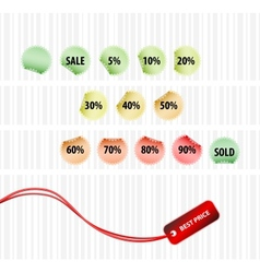 concept of successful sales vector image vector image