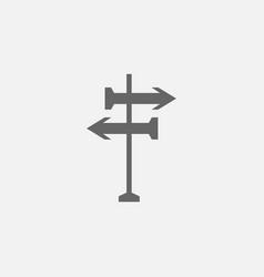 Road sing post icon vector