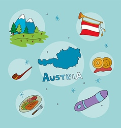 set of national profile of the austria vector image vector image