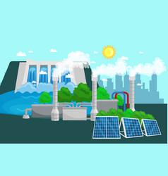 concept of alternative energy green power vector image