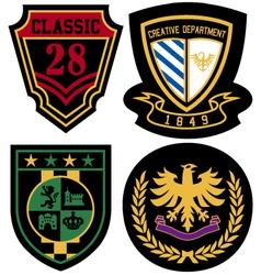 emblem royal badge shield vector image