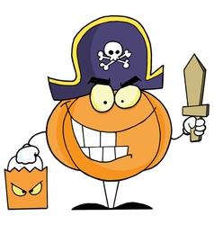 Halloween Pumkin Bag And Sword vector image vector image