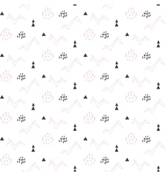 Light pink origami bird seamless pattern for kids vector image vector image