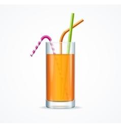 Orange Cocktail Glass vector image vector image