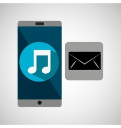 smartphone music online email vector image