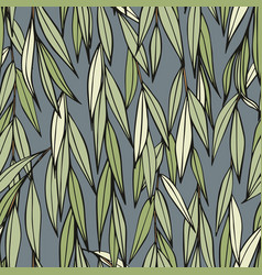weeping willow hand drawing seamless decorative vector image