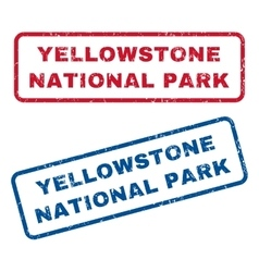 Yellowstone National Park Rubber Stamps vector image vector image