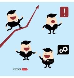 Businessman cartoon character vector image