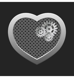 Concept heart with gears vector