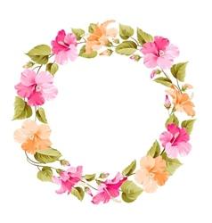 Floral wreath vector image