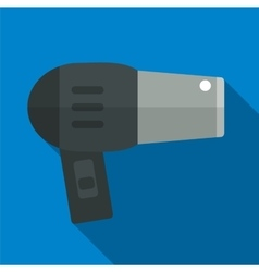 Hair dryer flat icon vector image