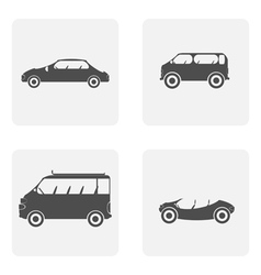 monochrome icon set with car vector image vector image