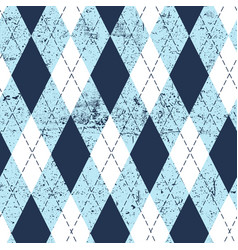 seamless argyle aged pattern traditional diamond vector image