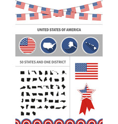 set of flat design icons nfographics elements with vector image vector image