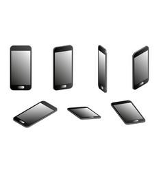set of smartphones in 3d vector image