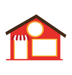 store front building icon vector image vector image
