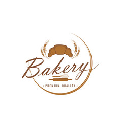 bakery and dessert logo sign template vector image