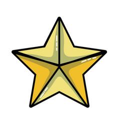 beauty star shine decoration design vector image