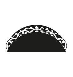black and white taco silhouette vector image