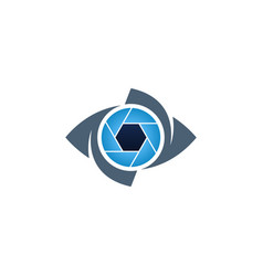 blue eye and shutter creative icon vector image