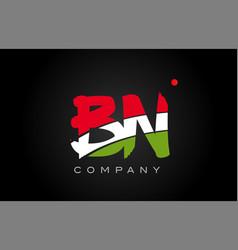 Bn b n alphabet letter logo combination icon vector