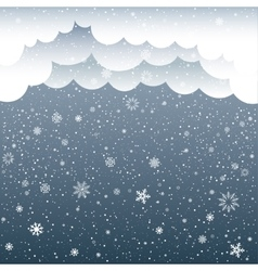 cartoon clouds snow vector image