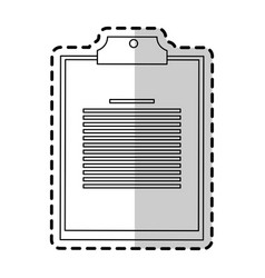 clipboard with board icon image vector image