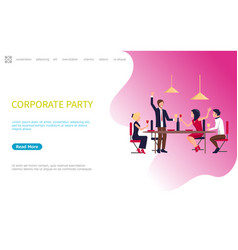 corporate party meeting business employees vector image