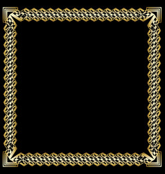 decorative luxurious golden frame on black vector image