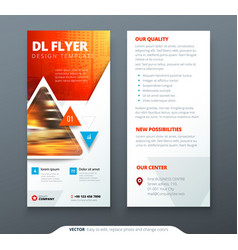 Dl flyer design red orange template dl flyer vector