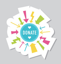 donate buttons set help icon donation vector image