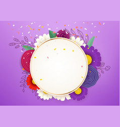 Empty circle frame sale concept photoreal layered vector