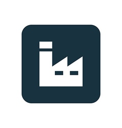 Factory icon Rounded squares button vector